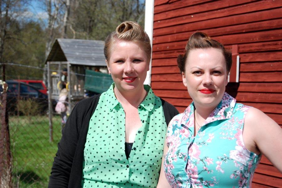 Sofi Ahl och Linda Blomqvist. (Foto Uppvidinge Tidning)