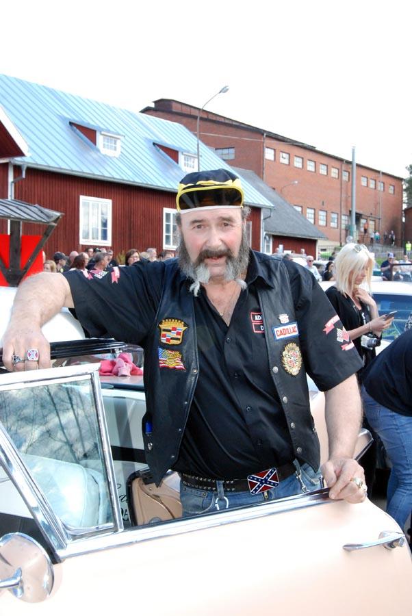 Dennis Gyllenfjell, en av initiativtagarna till Uppvidinge USA Cruisers (Foto Uppvidinge Tidning)